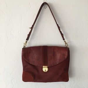 MZ Wallace Bedford Hazel Rust Leather Shoulder Bag